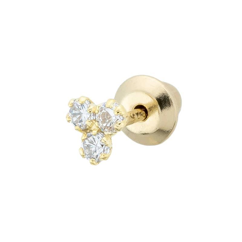 Piercing-Clover-Zircons-B.You-Jewelry