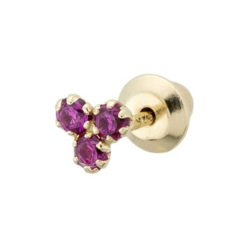 Piercing-Trebol-Circonitas-Rubi-B.You-Jewelry