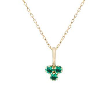 Colgante-oro-trebol-circonita-esmeralda-byou-jewelry