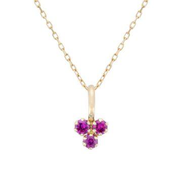 Colgante-oro-trebol-circonita-rubi-byou-jewelry