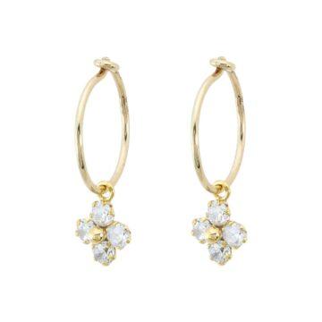 Pendiente-oro-aro-flor-circonita-byou-jewelry