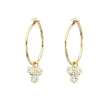 Pendiente-oro-aro-triple-circonita-byou-jewelry