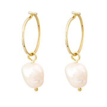 Pendientes-Aro-Con-Perla-Oro-9k-Byou-Jewelry