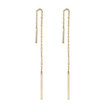 Pendientes-Cadena-Oro-9k-Byou-Jewelry