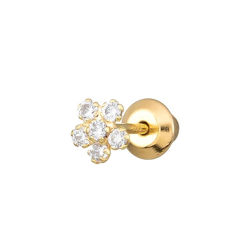 Piercing-Flor-Circonitas-Oro-9k-Byou-Jewelry